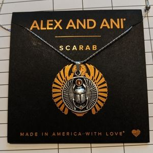 Alex and Ani Scarab Necklace